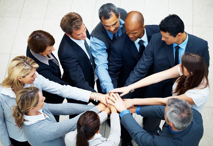equipe motivada e comprometida